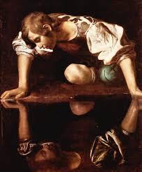 Narcisus av Caravaggio, förälskad i sin egen spegelbild - på gott och ont