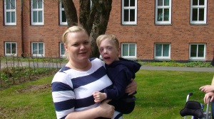 Johanna Hegmo med Samuel